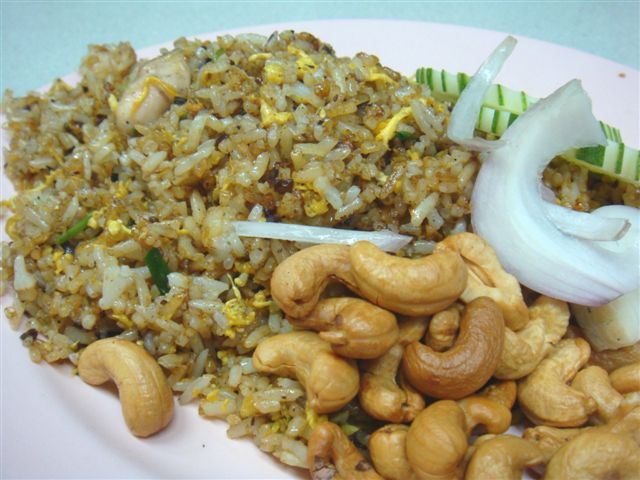 Olive Fried Rice - Real preserved olives are minced and fried together.