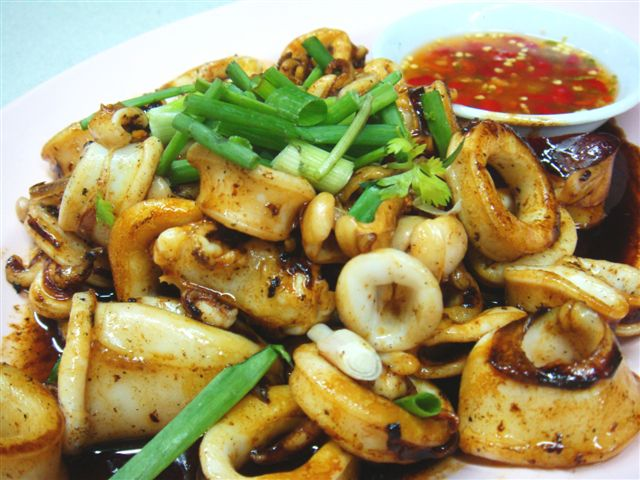BBQ Squid. All time favourite. A must try! Cooked perfectly till tender and tasty. Must eat with chilli.