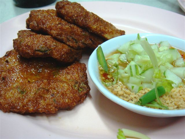 Thai Fishcake. Very nice texture. Special sauce made by the cook.