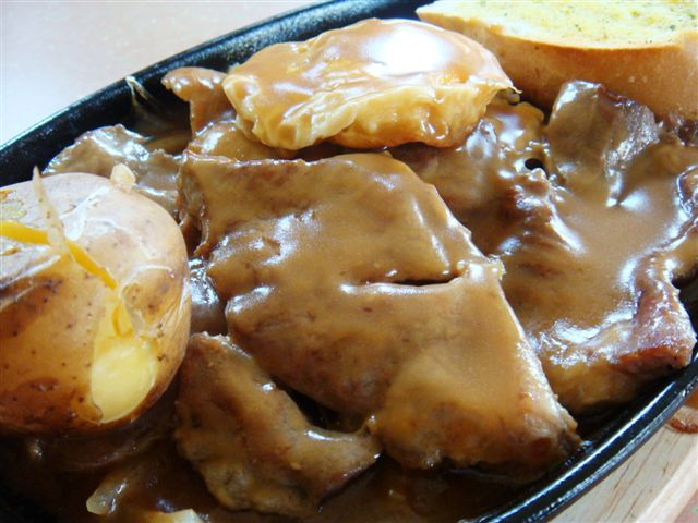 Covered with thick sauce which is not too salty... nice!
