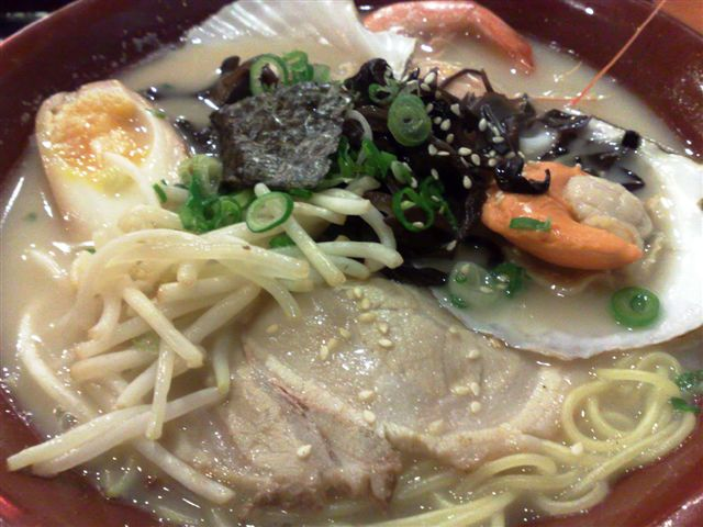 Yummy ramen! Portion here is big cos I've added an extra portion of ramen. Love the texture of the noodles!