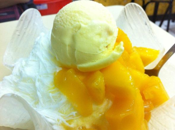Mango Snow Dessert With Ice-Cream