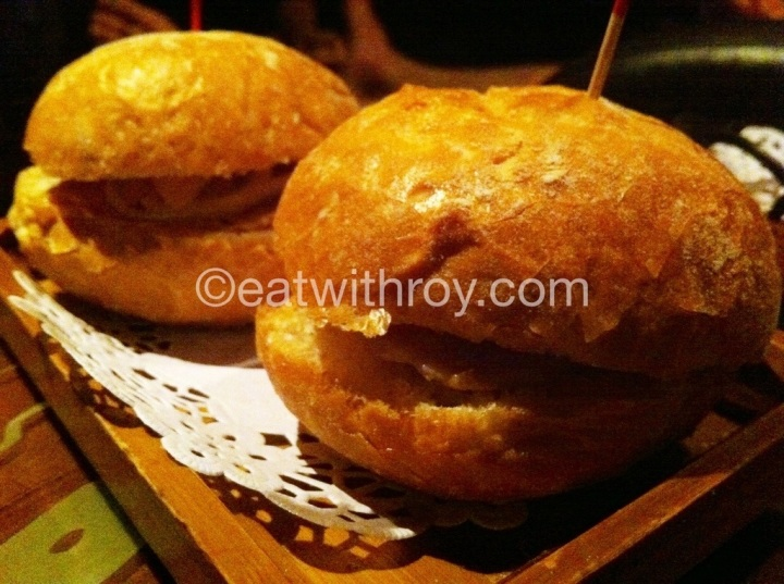 Pork Chop Buns... very crispy buns but pork chop a bit small piece...