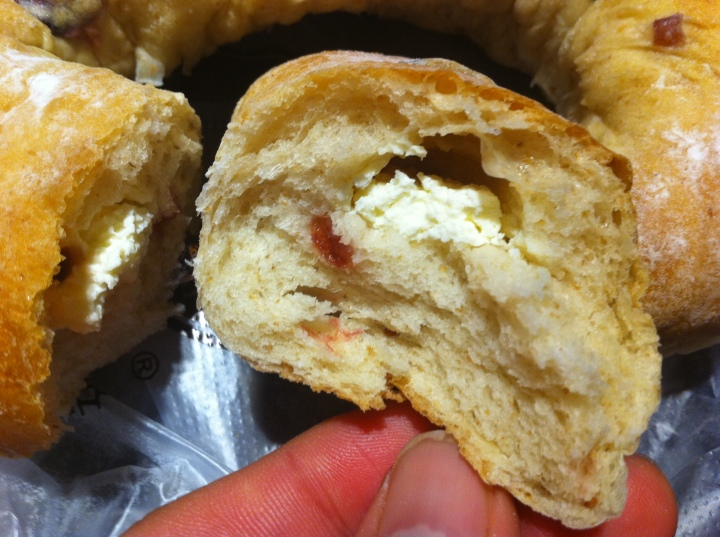 Cream cheese not as much as Royal Crown