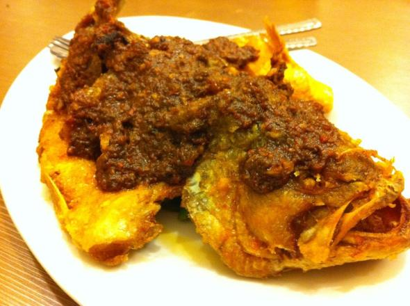 Sambal Fish - This fish is really good. Crispy and nice... sambal is really spicy and good!