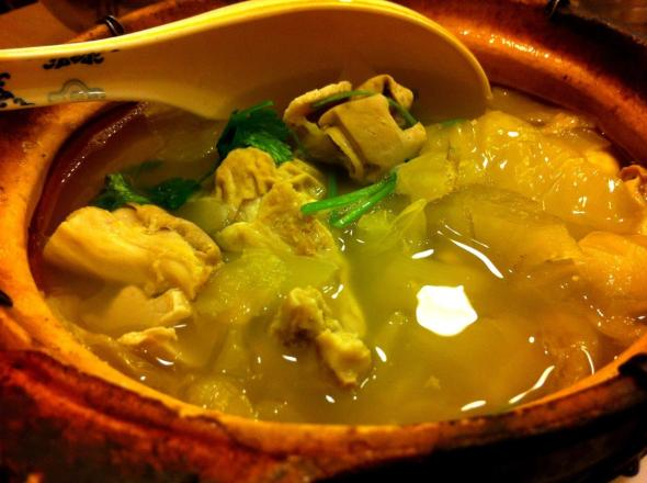 Pig Stomach soup... pretty good but soup damn little...