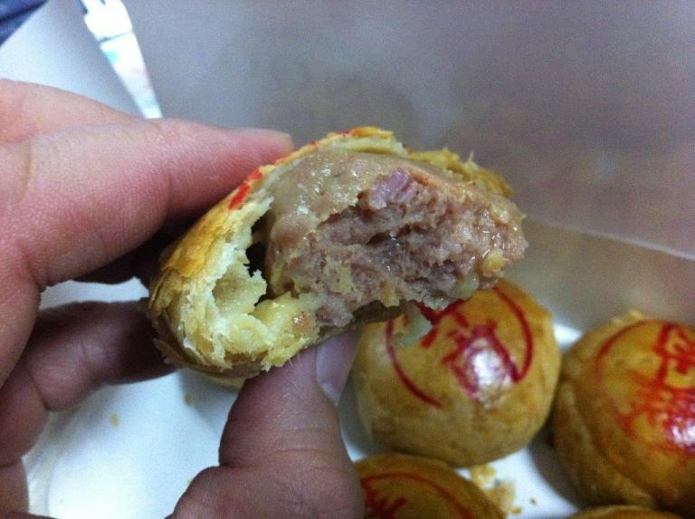 See how juicy the meat is... pastry is also very flaky!