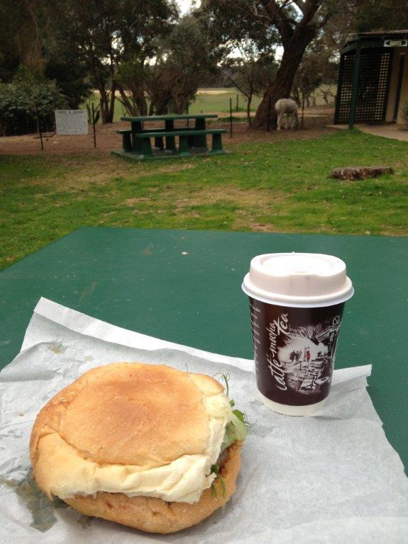 Like having a picnic with my latte...