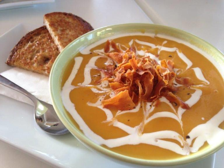 Soup of the day - Pumpkin Soup AUD8.50