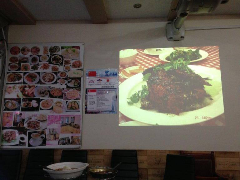 They have projector screening their specialty... More than 200 items on their menu!
