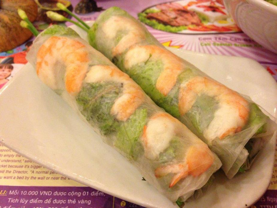 Typical Vietnamese spring rolls