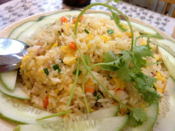 Fried rice... staple for Asians. :)