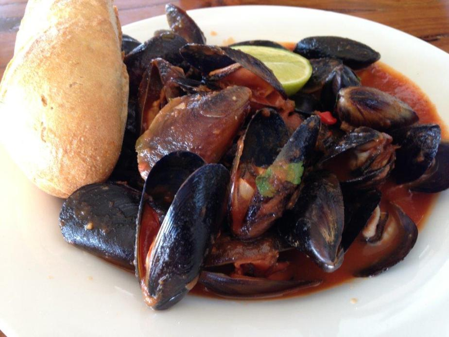Very nice Chilli Mussels for AUD$29.50! Comes with a 6 inch baguette.