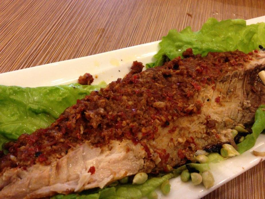 On the flip side, also a lot of sambal rubbed inside the slit. Awesome!