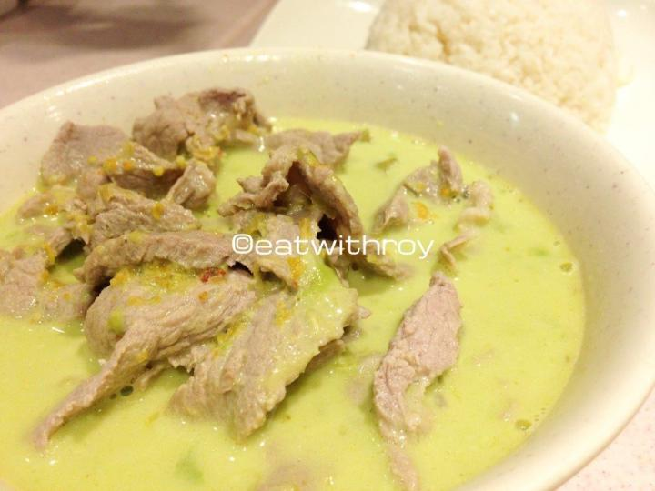 Thai Green Curry With Pork HK$38 - There's an option of yellow or green curry. However I still prefer it with chicken and fancy the gravy a little thicker.