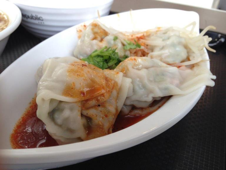 Wontons from the Taiwanese stall... not bad
