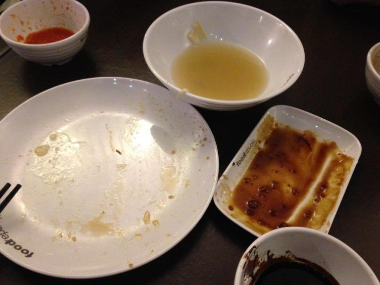 Chicken rice meal wiped out!