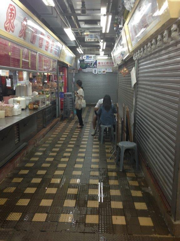 On the left is the korean stall
