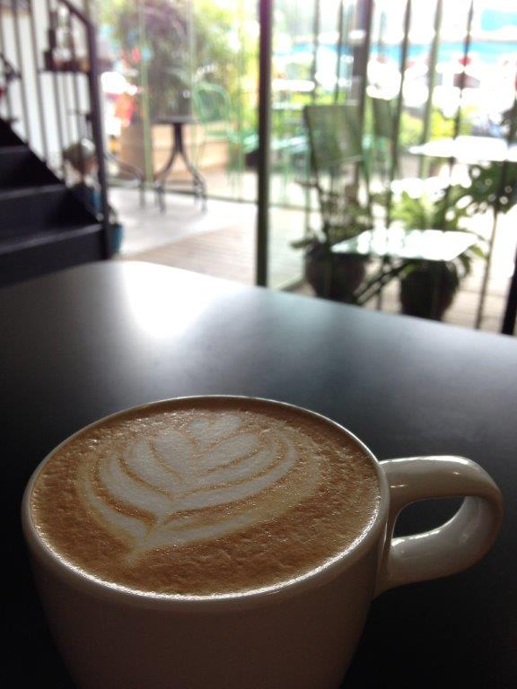 Latte was a tad weak for my liking. Saw them preparing the coffee, very different from what I was taught in Australia.