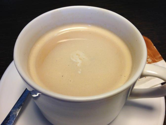 My latte... a total disappointment... auto machine.