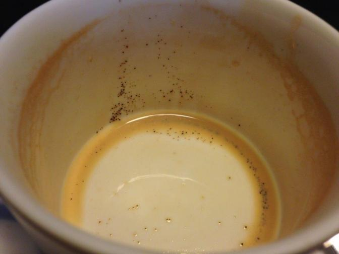 Loads of coffee specks at the bottom
