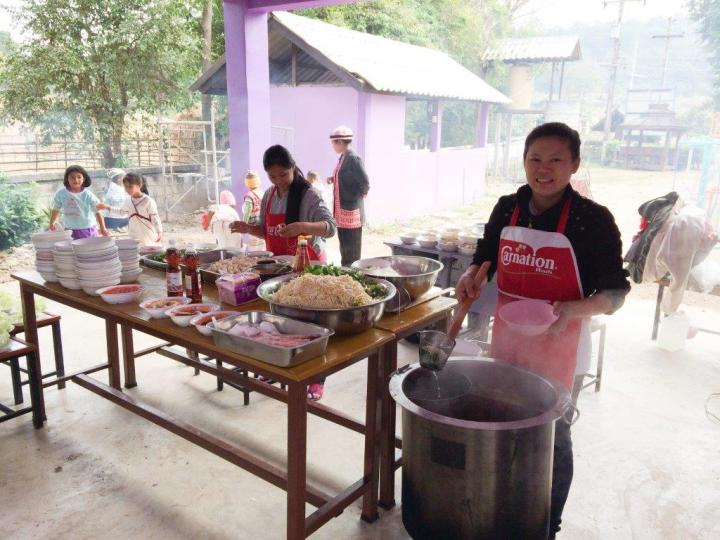 We catered lunch for all kids and staff of the school... all 170 of them.