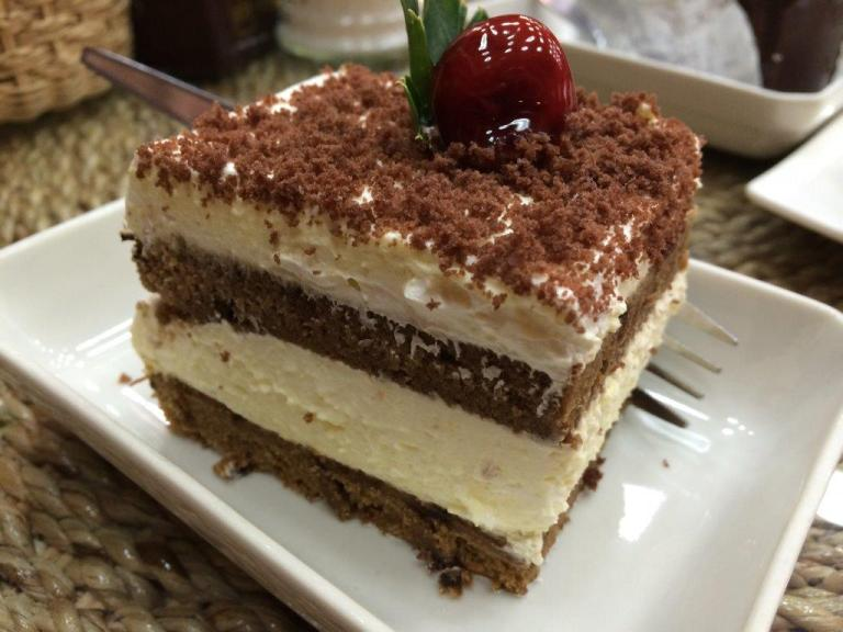 Tiramisu - The bottom layer is a little on the hard due to the fridge