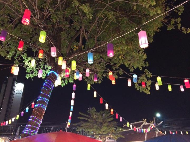 These beautiful lanterns light up the whole place.