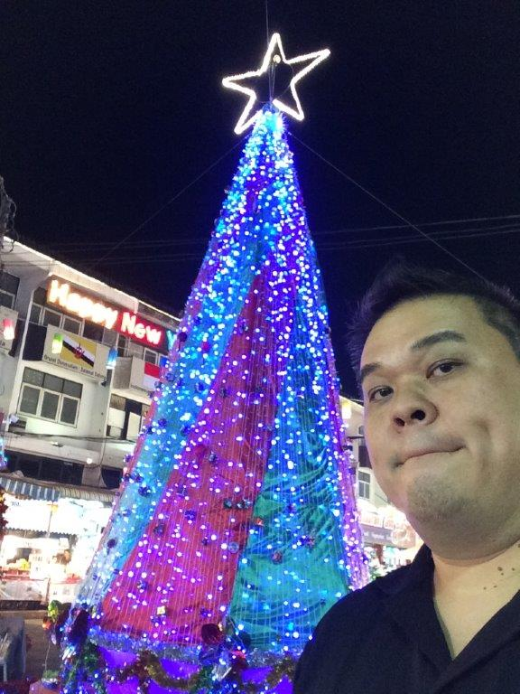 Christmas period lah, so must pose for a selfie.