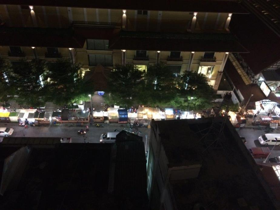 Night bazaar from our hotel room