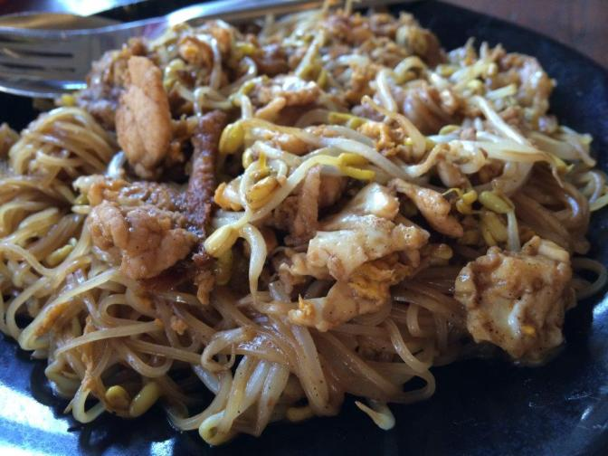 Phad Thai Pai style... A little twist from the normal phad thai we have in Bangkok but pretty tasty, sweet and fragrant.