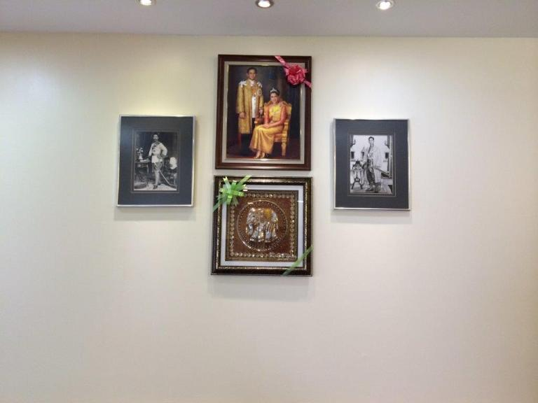Picture frame of the Thai King and Queen