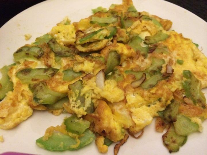 Bittergourd omelette - One of my favorites.