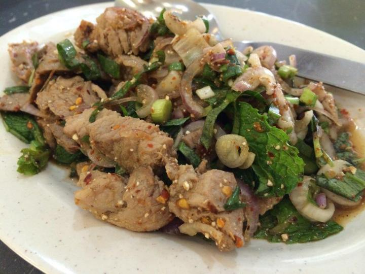 Namtok Moo - This additional order of grilled pork dish is pretty good and mixed up as a salad dish. Love it.