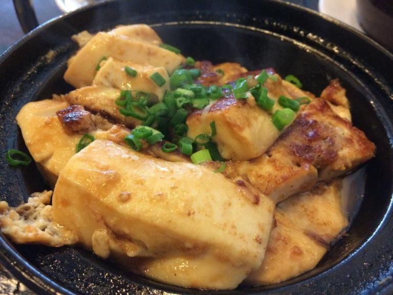 Hakka tofu. Homemade tofu, very nice and jelly-like.