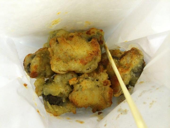 Fried Shitake Mushroom S$3. Firs time trying this, not bad though.
