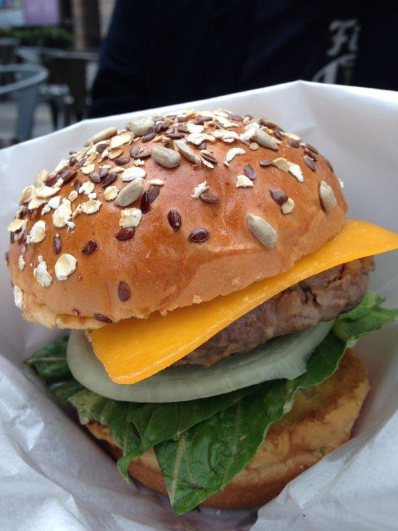 Beef Burger - RMB$45. Not bad but quite small.