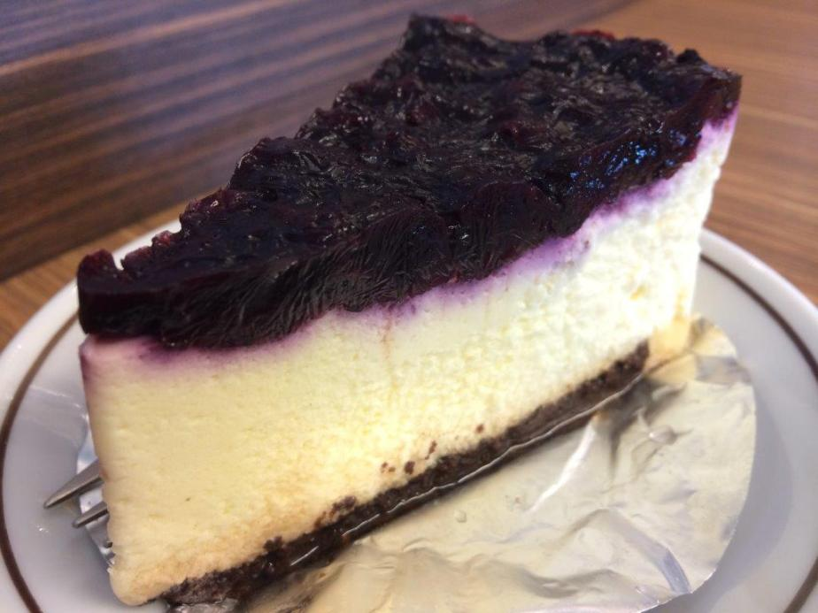 Blueberry cheese cake... I suspect not fresh