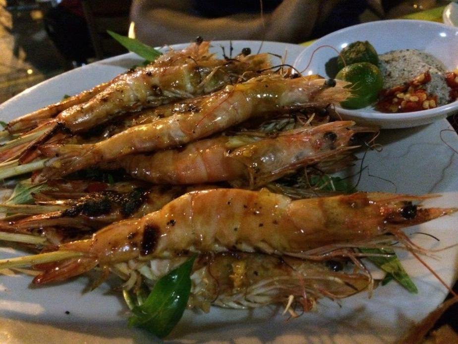 Grill Prawns $15 - There were like 20 prawns on skewers. Definitely worth it and quite taste with some sauce coated on them while grilling.