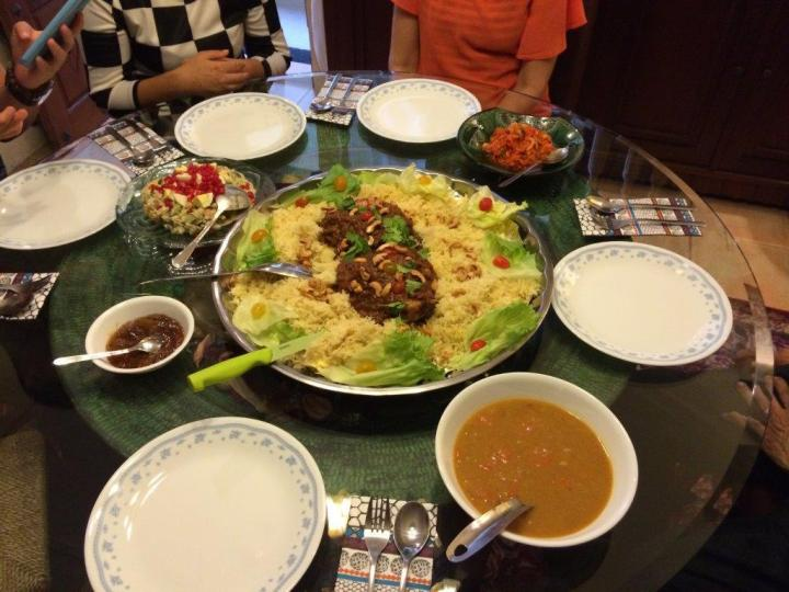Our awesome Arabic dinner!