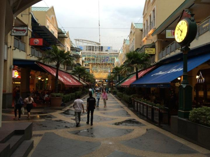 The food street at The Curve