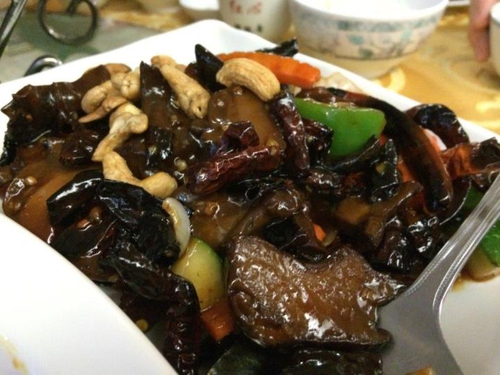 Very nice dish of assorted sauteed mushrooms and dried chillies. Spicy and oily but tasted good.