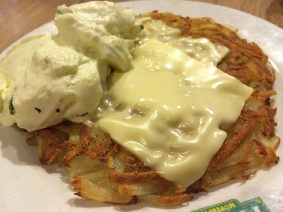 Potato Rosti is awesomely done, we had 3 plates of this! Love it!