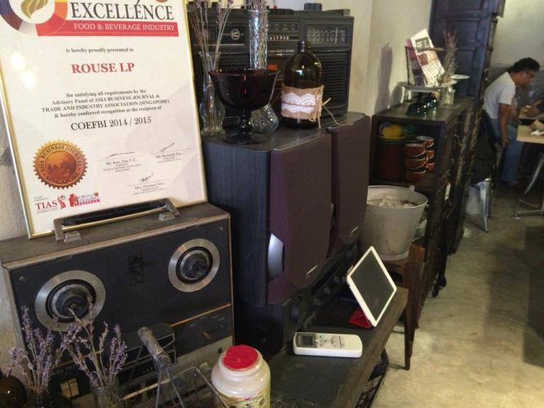 Certificate of Excellence and some antiques.
