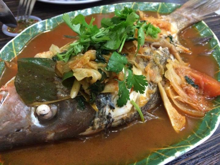 Tom Yum Snapper - The soup around this dish is so yummy you can just drink it and the fish is nice and fresh. Love it!