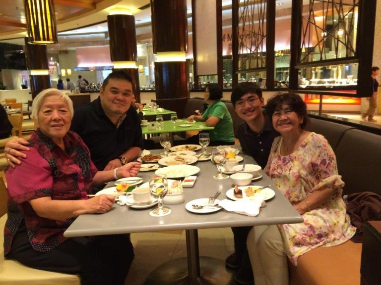 Me, mum and my buddy's mum and his cousin... buddy doesn't like Genting...