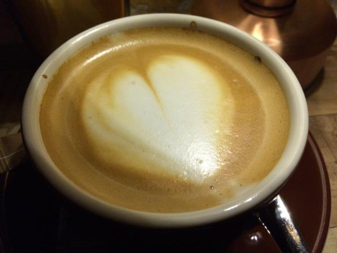 Good coffee from Graffeo, a local roaster. this latte was pretty good.
