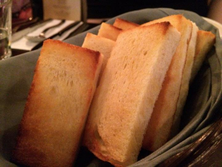 Toasts from a local bakery to go with your gratin.