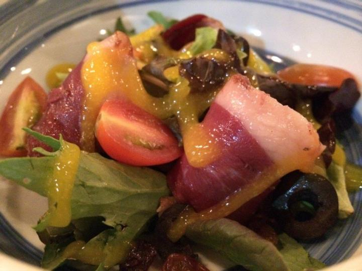 Smoked Duck Breast - Not a big fan of smoked duck breast but serving as a salad is a great appetizing choice.