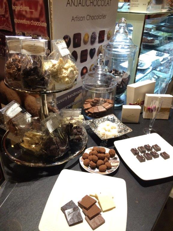Display of chocolates for the media guests.
